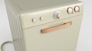 dishwasher retro vintage 3D model