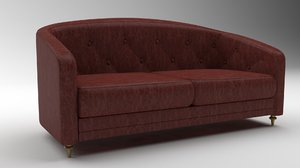 3D modern lather sofa model