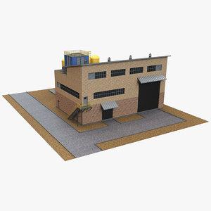 3D industrial building 18