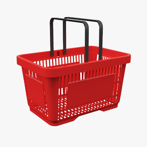 3D model shopping basket contains