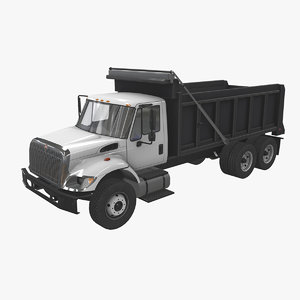 3D navistar international 7400 dump truck model