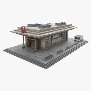 3D subway entrance