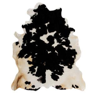 wool black white skin cow 3D