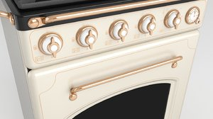 3D gas range cooker model