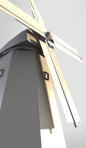 wind windmill 3D model