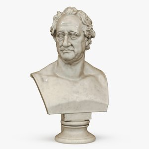 bust goethe 3D model