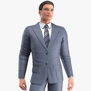 3D businessman rigged business male man model