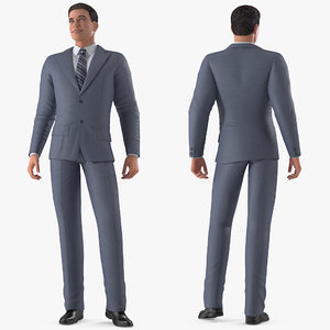 businessman rigged business male man 3D model