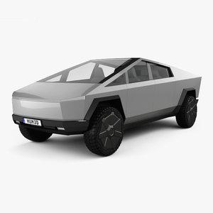 3D tesla cybertruck 2019