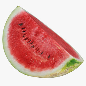 3D watermelon quarter cut 01 model
