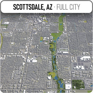 scottsdale surrounding - 3D
