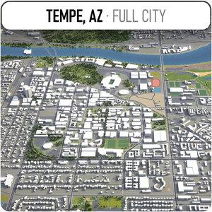 tempe surrounding - 3D