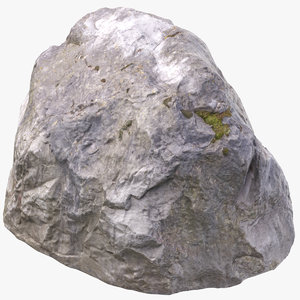 3D model boulder 01