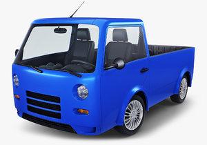 kei truck concept retro 3D model