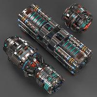 Sci Fi Mega Elements KITBASH - SUBDIVISION READY - pack 3