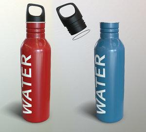 metal bottle water 3D model