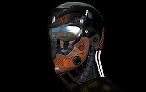 portrait moto robot 3D model