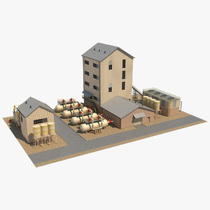 industrial 4 3D model