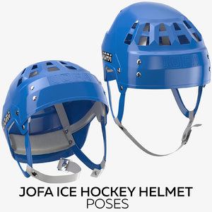 jofa ice hockey helmet 3D model