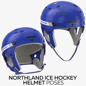 3D northland ice hockey helmet