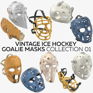 vintage ice hockey goalie 3D model