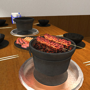japanese bbq 3D