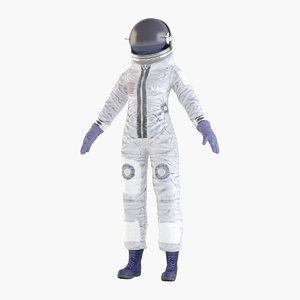3D astronaut spaceman spacesuit