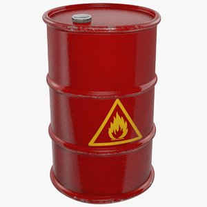 3D model oil barrel
