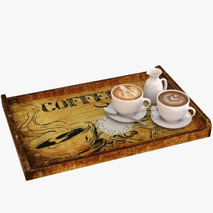 3D coffee tray