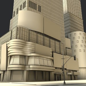 square buildings morgan 3D