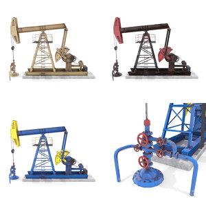 3D oil pumpjack pack