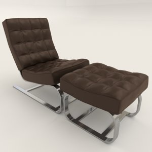 leather relax chair 3D model