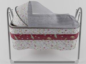 cradle baby 3D model
