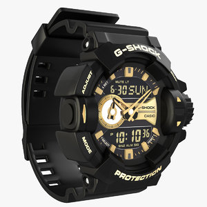 photo realistic casio g-shock 3D