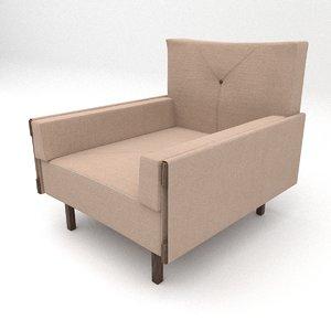 armchair ina 3D