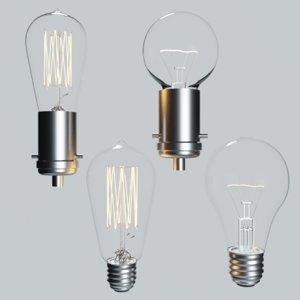 3D model light bulbs