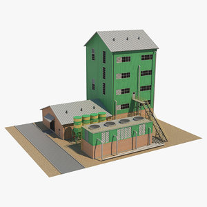 3D industrial tower 1 model