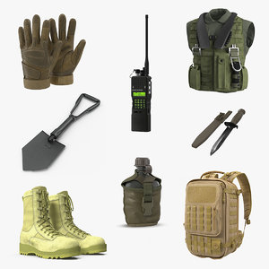 3D military stuff 3