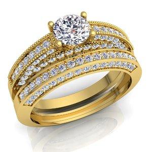 diamond rings set 3D model