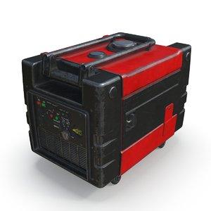 portable generator pbr 3D model