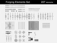 Forging Elements Set