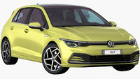 VW Golf 8 2020 (Opening doors and trunk)