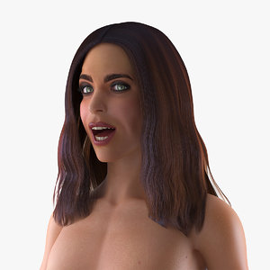 nude woman rigged 3D model