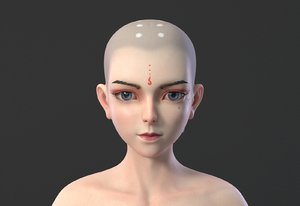 3D face boy body