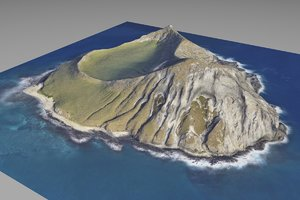 realistic island 3D model