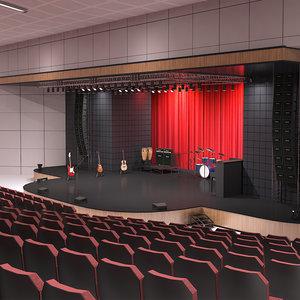 3D concert hall model