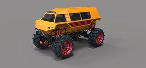 3D mud truck model