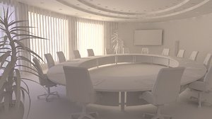 conference salon office 3D model