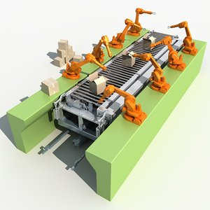 industrial robotic arm 3D