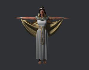 3D cleopatra woman historical